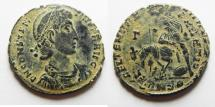Ancient Coins - BEAUTIFUL AS FOUND CONSTANTIUS II AE CENT.
