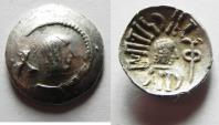 """Ancient Coins - ARABIA, Southern. Himyar. Ṯ""""RN Y ̔B. Late 2nd century AD(?). AR Unit. RYDN (Raidan?) mint."""