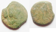 Ancient Coins - HERODIAN DYNASTY. Agrippa I, 37-44 AD. AE Prutah.