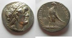 Ancient Coins - Almost Mint State: Egypt. Ptolemaic kings.Ptolemy I Soter (305-282 BC). AR tetradrachm (26mm, 14.09g). Alexandria mint. Struck c. 300-285 BC.