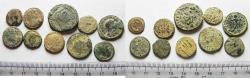 Ancient Coins - LOT OF 10 ANCIENT BRONZE ROMAN COINS