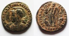Ancient Coins - ORIGINAL DESERT PATINA: LICINIUS II AE FOLLIS
