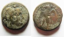 Ancient Coins - PTOLEMAIC KINGDOM. PTOLEMY II AE 20. ALEXANDER THE GREAT'S HEAD
