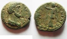 Ancient Coins - JUDAEA. SAMARIA. NEAPOLIS. ANTONINUS PIUS VERY RARE AE 21
