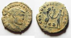 Ancient Coins - Maximianus (AD 286-305) Æ Radiate. ALEXANDRIA MINT