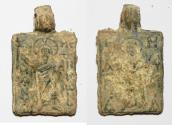 Ancient Coins - ANCIENT HOLY LAND. BYZANTINE LEAD PENDANT. 600 - 800 A.D