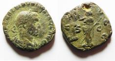 Ancient Coins - VOLUSIAN Æ Sestertius. NICE