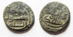 Ancient Coins - ISLAMIC. UMMAYYED. BA'ALBAK MINT. AE FALS