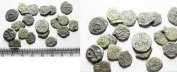 Ancient Coins - AS FOUND: Lot of 20 Ancient Biblical Widow's Mite Coins