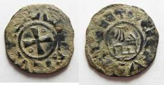 World Coins - MEDIEVAL. Crusader States. Kingdom of Jerusalem. Amaury (1163-1174). Billon denier