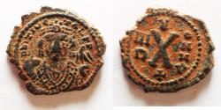 Ancient Coins - Maurice Tiberius 582-602 AD Decanummium