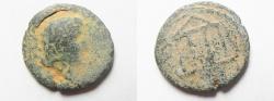 Ancient Coins - Judaea. Herodian dynasty. Herod Philip with Augustus. 4 BCE-34 CE. AE
