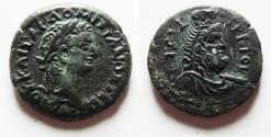 Ancient Coins - CHOICE EF CONDITION: EGYPT, Alexandria. Domitian. AD 81-96. Æ Diobol
