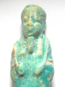 Ancient Coins - EGYPTIAN , ANCIENT FAIENCE USHABTI , 600 - 300 B.C - SHABTI , NICE SHARP COLOUR
