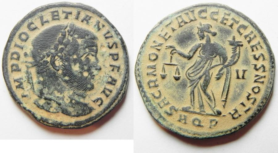 Ancient Coins - Diocletian. A.D. 284-305. Æ follis. Aquileia