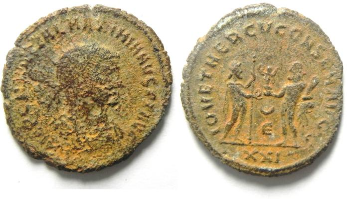 Ancient Coins - MAXIMIAN ANTONINIANUS , AS FOUND