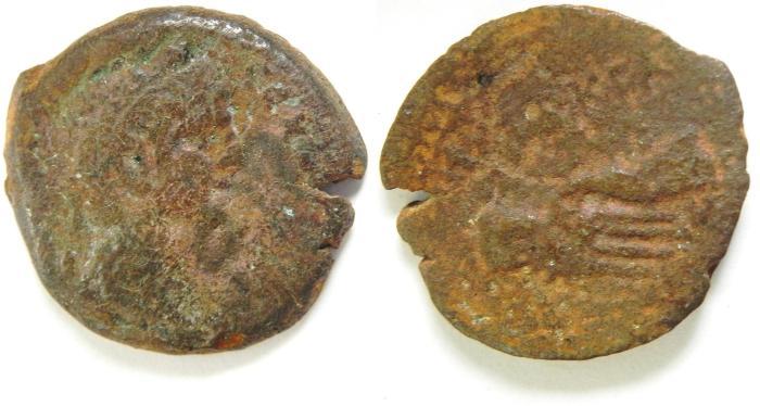 Ancient Coins -   EGYPT , ALEXANDRIA , CLAUDIUS AE OBOL , NICE