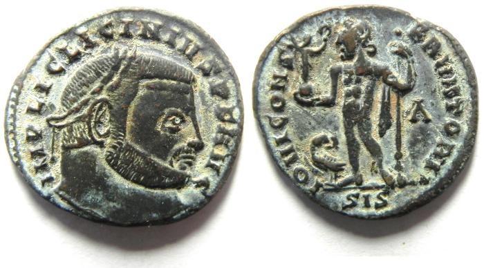 Ancient Coins - BEAUTIFULL LICINIUS A FOLLIS , NICE PORTRIAT