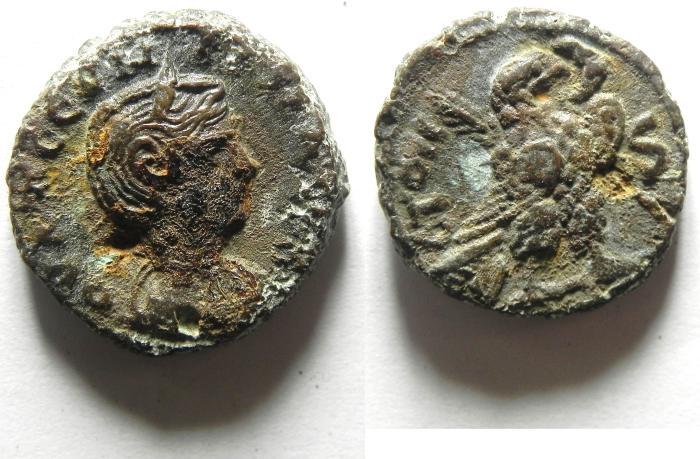 Ancient Coins - EGYPT , ALEXANDRIA , POTIN TETRADRACHM , SEVERINA