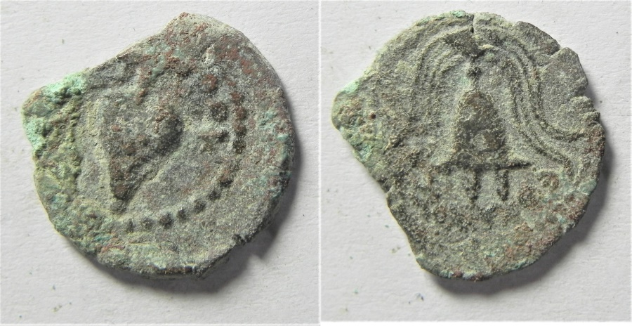 Ancient Coins - JUDAEA. HERODIAN. HEROD ARCHELAUES AE PRUTAH