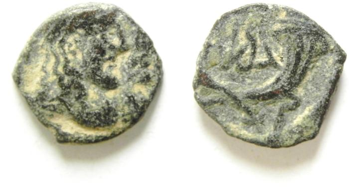 Ancient Coins - NABATAEAN KINGDOM , RABBEL II & GAMILAT AE 14