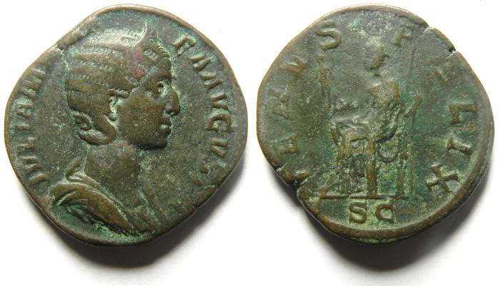 Ancient Coins - Julia Mamaea, mother of Severus Alexander, AE SESTERTIUS, NICE