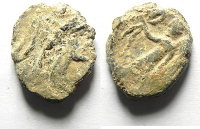 Ancient Coins - NABATAEAN , ARETAS III AE 15 , damascus mint AS FOUND