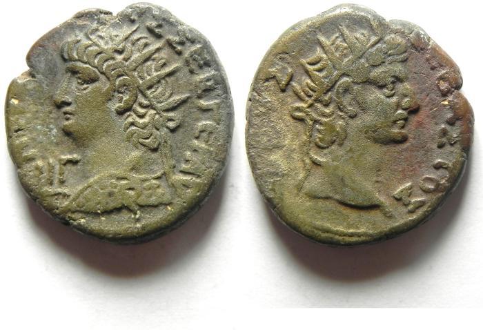 Ancient Coins - EGYPT , ALEXANDRIA , NERO , AR TETRADRACHM , NICE , AUGUSTUS BUST