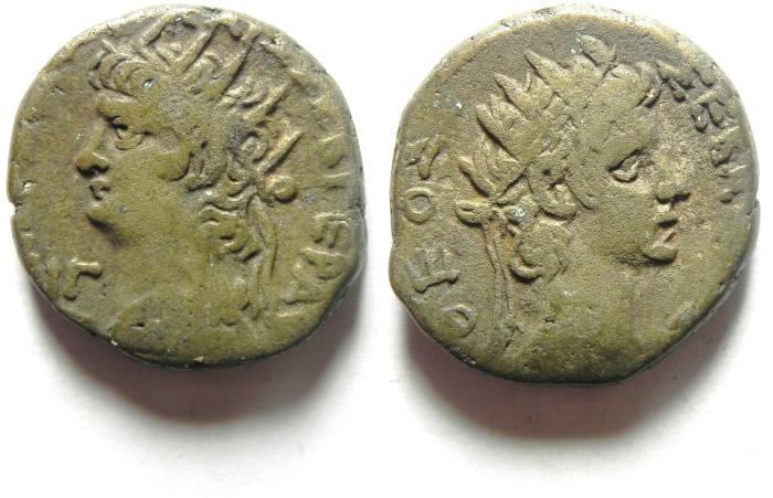Ancient Coins -  EGYPT , ALEXANDRIA , NERO , AR TETRADRACHM , NICE