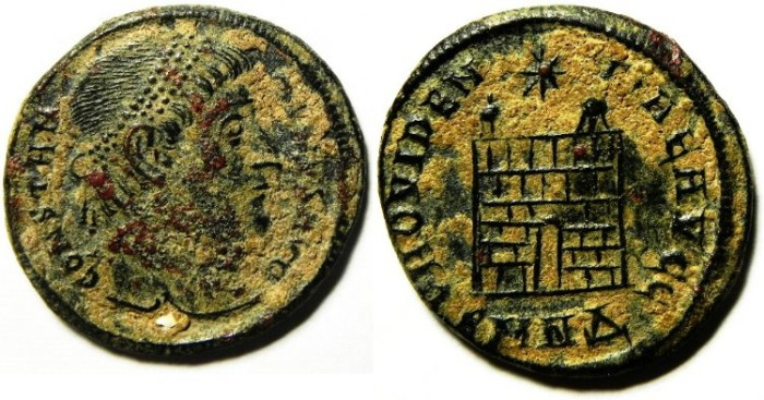 Ancient Coins - CONSTANTINE I AE 3 , NICE AS FOUND.