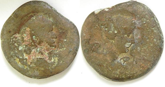 Ancient Coins - EGYPT , ALEXANDRIA , VESPASIAN AE DRACHM