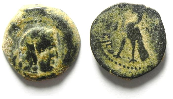 Ancient Coins - NABATAEAN KINGDOM , MALICHUS I (60 - 30 B.C) , AE COIN MINTED 34/33 B.C