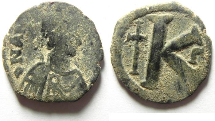 Ancient Coins - BYZANTINE , ANASTASIUS HALF FOLLIS
