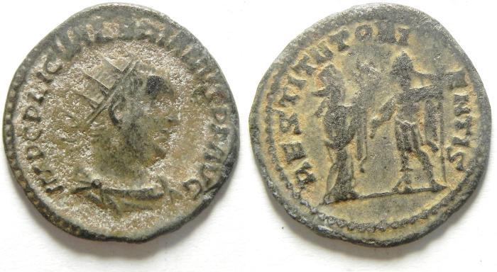 Ancient Coins - Valerian I: A.D. 253-260. Billon , Antoninianus, NEEDS CLEANING
