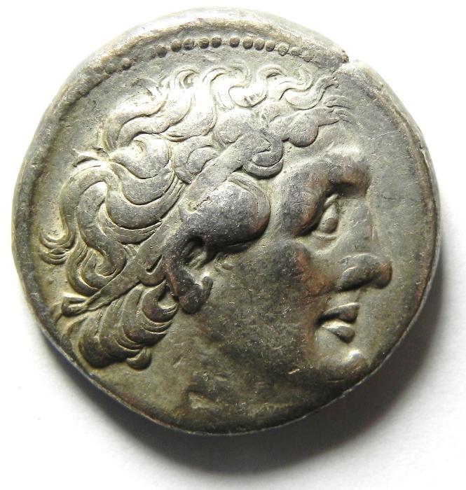 Ancient Coins - Egypt, Ptolemaic Kings. Ptolemy II Philadelphos. 285-246 BC. AR Tetradrachm , TYRE MINT. VERY NICE PORTRIATE!!!!