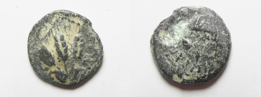 Ancient Coins - JUDAEA. AGRIPPA I AE PRUTAH