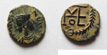 Ancient Coins -  Thedosius II (AD 402-450). AE nummus (11mm, 0.72g). Constantinople or Nicomedia mint.