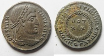 Ancient Coins - BEAUTIFUL CONSTANTINE I THE GREAT AE 3 , AQUILIA