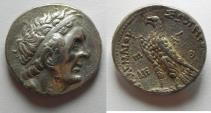 Ancient Coins - Egypt. Ptolemaic kings. Ptolemy II Philadelphos (285-246 BC). AR tetradrachm (25mm, 14.08g). Ptolemaïs (Ake) mint. Struck in regnal year  30 (256/5 BC).