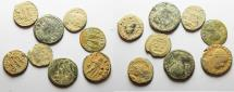 Ancient Coins - LOT OF 8 ROMAN AE COINS, CONSTANTINIAN. AS FOUND