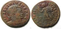 Ancient Coins - BEAUTIFULL LICINIUS I E FOLLIS , ROME MINT, WONDERFULL PORTRAIT