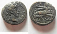Ancient Coins - Egypt. Alexandria under Marcus Aurelius (AD 161-180). Billon tetradrachm (23mm, 14.23g).