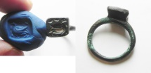 Ancient Coins - Byzantine bronze Ring. 7th Cent. A.D with a Duck