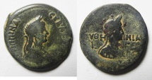 Ancient Coins - BEAUTIFUL: EGYPT , ALEXANDRIA , AGRIPPINA AE DIOBOL