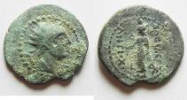 Ancient Coins - GREEK. Seleucid Kings. Antiochus IV Epiphanes (175-164 BC). AE denomination C (18mm, 2.74g). Byblos mint. Struck c.168-164 BC.