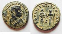 Ancient Coins - BEAUTIFUL WITH DESERT PATINA. Maximianus abdication half follis.