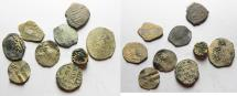 Ancient Coins - ISLAMIC. MOSTLY MAMLUK LOT OF 9 AE AND SILVER COINS