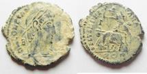 Ancient Coins - CONSTANTIUS II AE CENT. ROME MINT. BEAUTIFUL DESERT PATINA