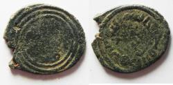 Ancient Coins - ISLAMIC. UMMAYYED. AE FALS. AKE MINT. ضرب عكا