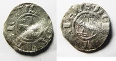 World Coins - Crusader States. Kingdom of Jerusalem. Amaury (1163-1174). Billon denier